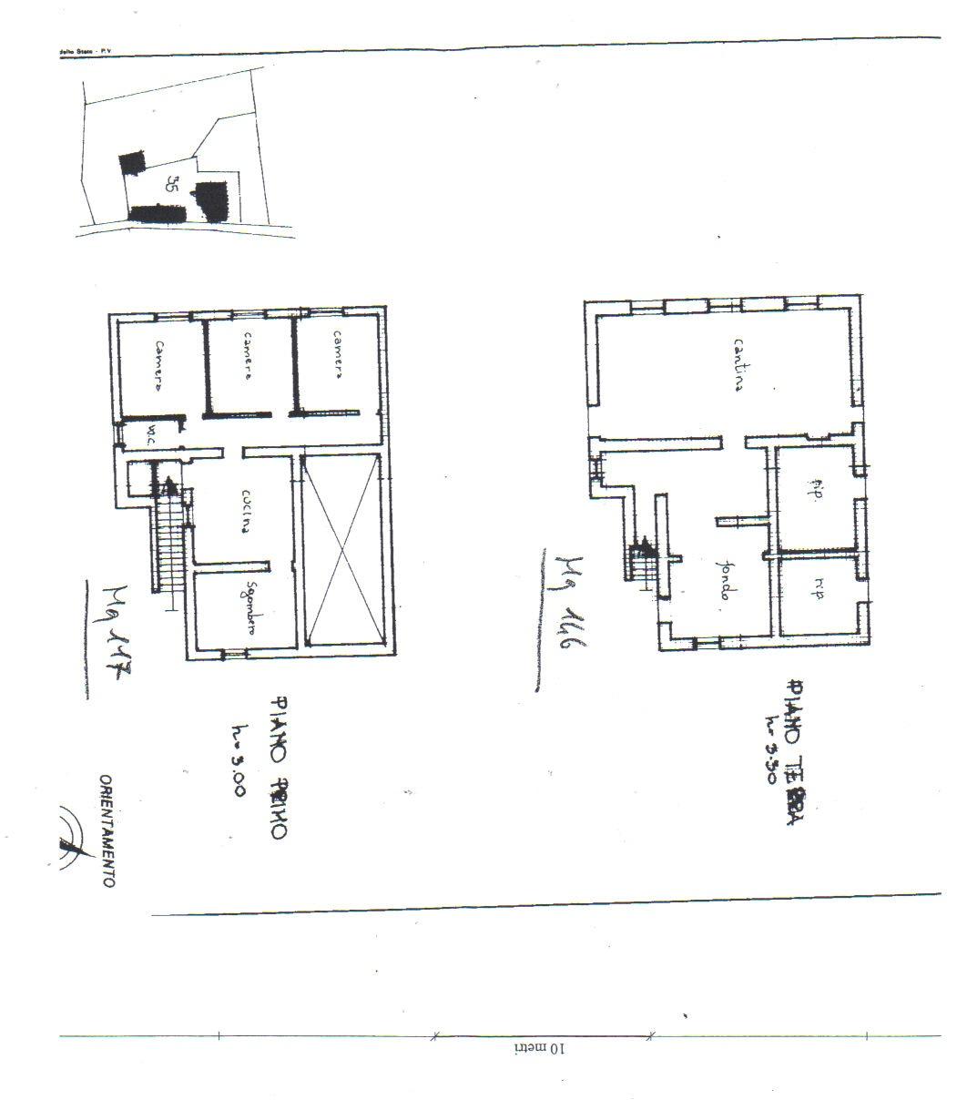 Piantina Casa Piano Terra e Primo Piano